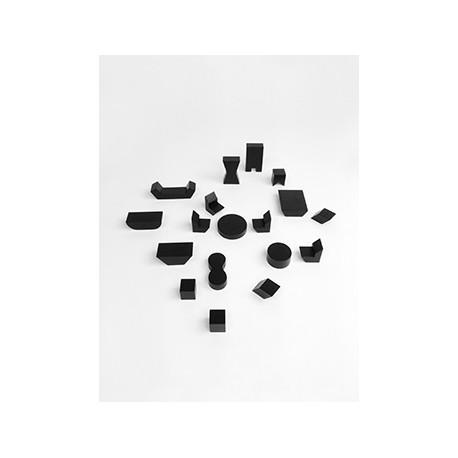 Mini Furniture set - 18pcs - black