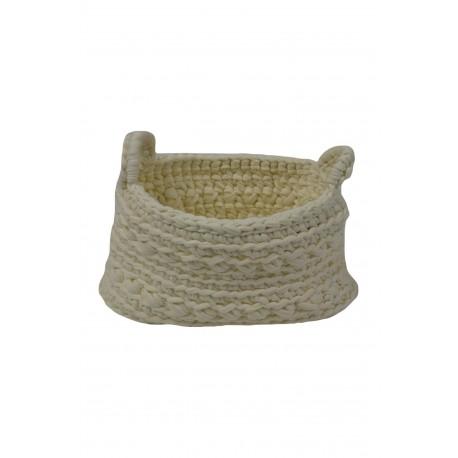 Crochet Basket XS in Ecru
