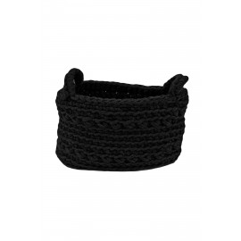 Crochet Basket XS in Black