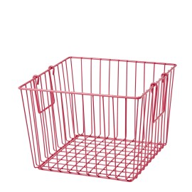Square Wire Basket - Fuchsia