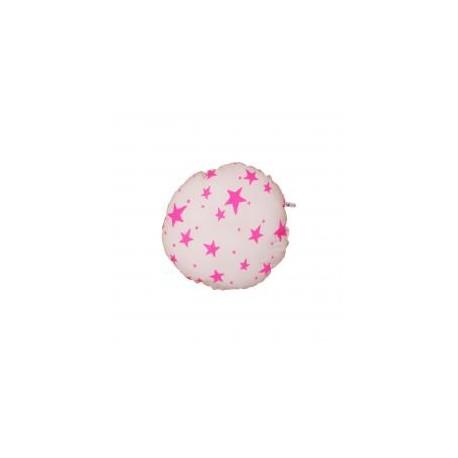 Circle Pillow neon pink stars