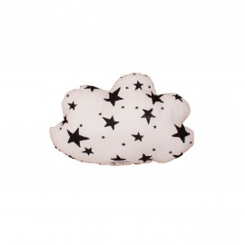 Cloud pillow small black stars and stripes