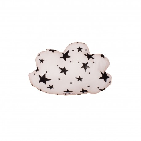 Cloud pillow small neon pink stars and stripes