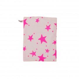 Kids bedsheet neon pink stars