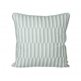 Arch cushion - blue/off-white