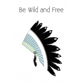 Be wild and free wall sticker