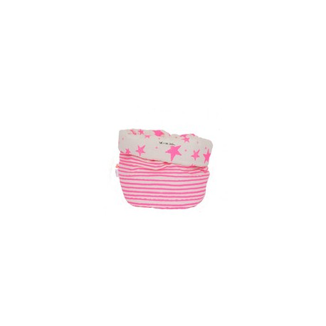 Storage basket S neon pink stars and stripes