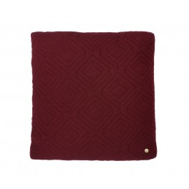Quilt cushion - Bordeaux - 45 x 45cm