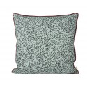 Dottery cushion - dusty blue