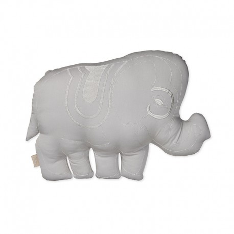 Elephant cushion- grey