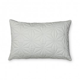 Quilted rectangular cushion mint