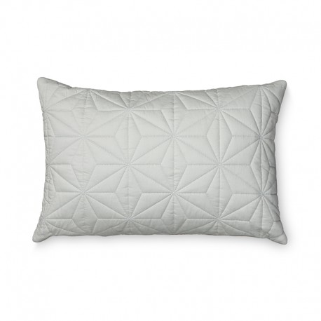Quilted rectangular cushion grey