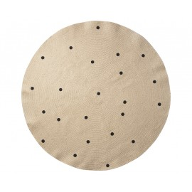 Jute carpet Black dots - Large
