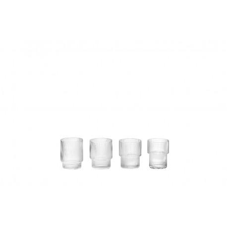 Ripple Glass - set of 4