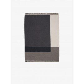 Colour block throw - Grey