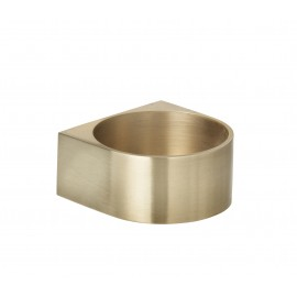 Block candle holder- brass