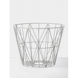 Wire Basket Black - light grey
