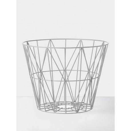 Wire Basket Black - light grey