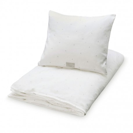 Adult bedding creme w. gold dots