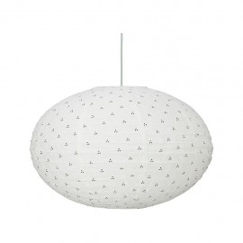Ellipse lamp - navy dots