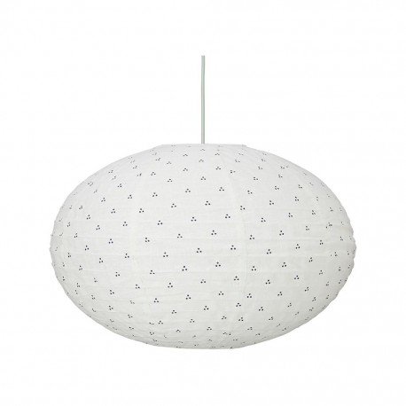 Ellipse lamp - navy dots