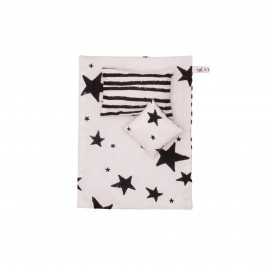 Kids bedding black stars and stripes