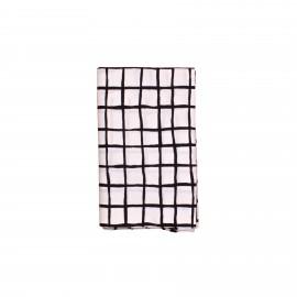 Single bedsheet black grid