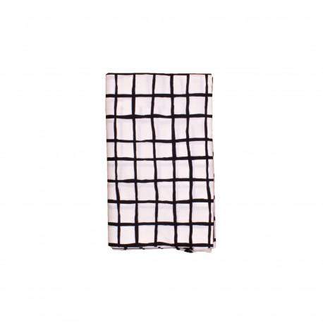 Kids bedsheet black grid
