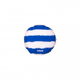 Circle Pillow blue stripes
