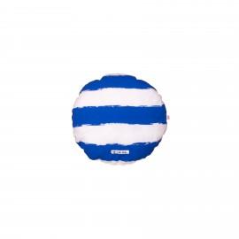 Circle Pillow blue stripes