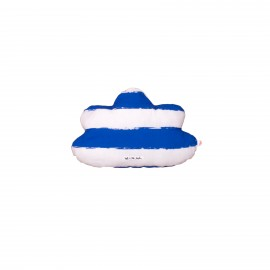 Cloud pillow blue stripes