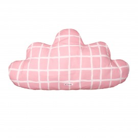 Cloud Pillow Large rose grid