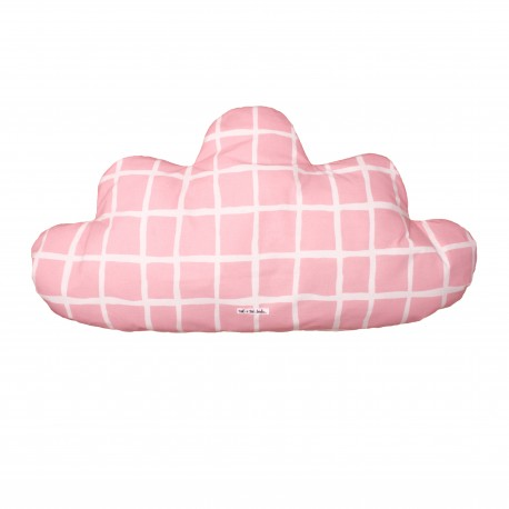 Cloud Pillow Large neon pink stars & stripes