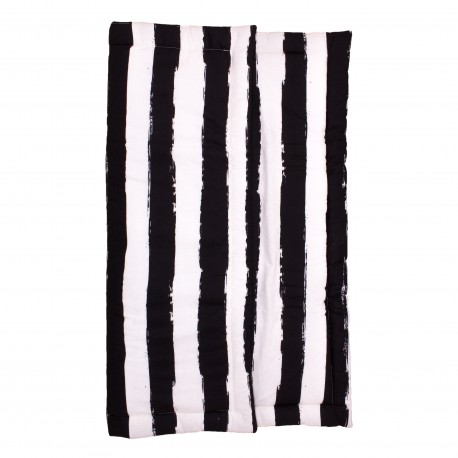 Playmat square black stripes XL