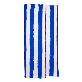 Playmat rectangular blue stripes