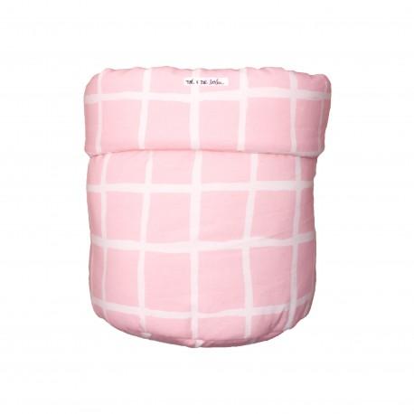 Storage basket M rose grid