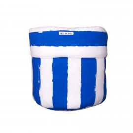 Storage basket M blue stripes
