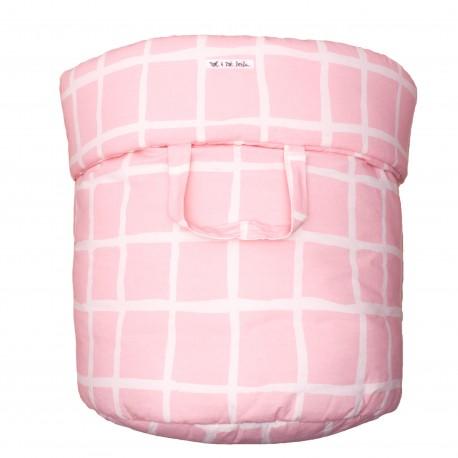 Storage basket L rose grid