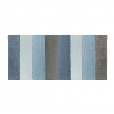 Woven floor rug-cloud blue