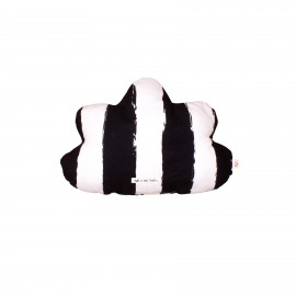 Cloud pillow small black XL stripes