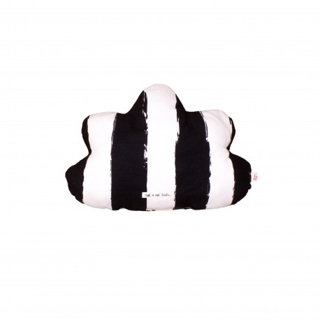 Cloud pillow small black XL stripes