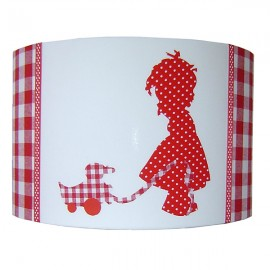 Lampshade Girl red