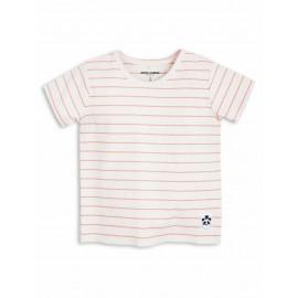 Stripe Rib Wing Tee Pink