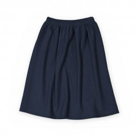Plain blue midi skirt