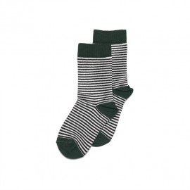 Socks- Striped/emerald