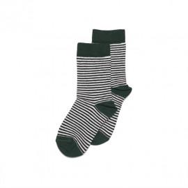 Socks- Striped/emerald