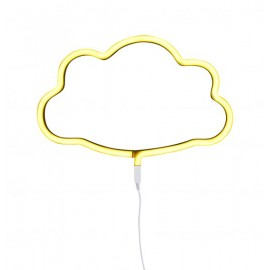 Neon style light cloud yellow