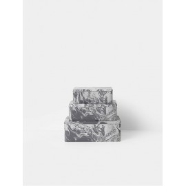 Marble Tin Boxes - set of 3