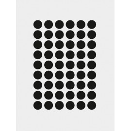 Mini dots Wallsticker - Black