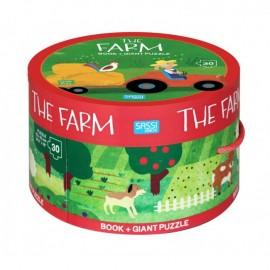 The Farm Puzzle - Round Box